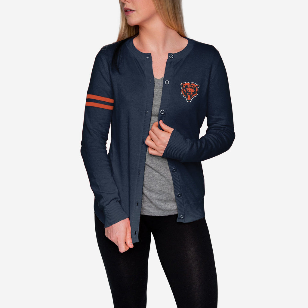Chicago Bears Womens Varsity Cardigan FOCO - FOCO.com
