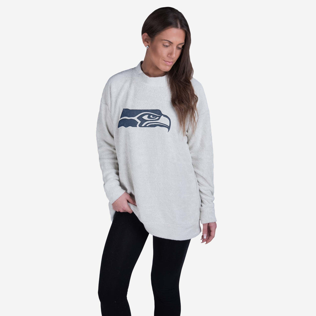 Seattle Seahawks Womens Oversized Comfy Sweater FOCO - FOCO.com