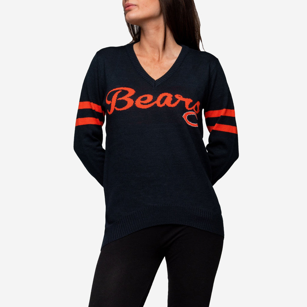 Chicago Bears Womens Vintage Stripe Sweater