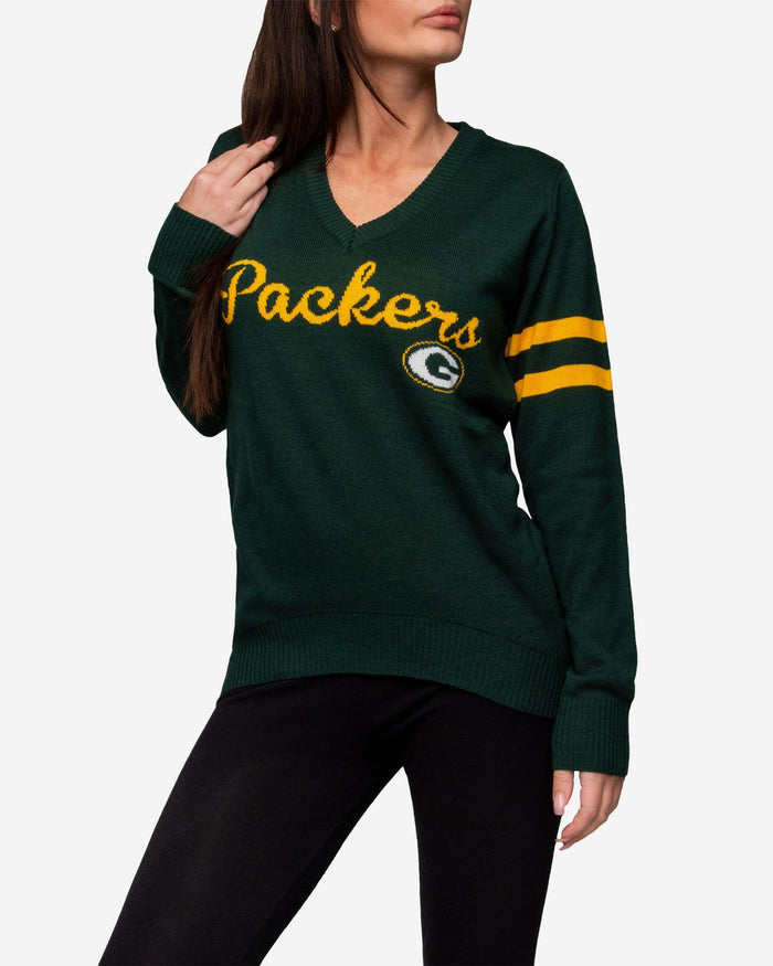 sneakers for cheap 8e931 414dc Green Bay Packers Womens Vintage Stripe Sweater