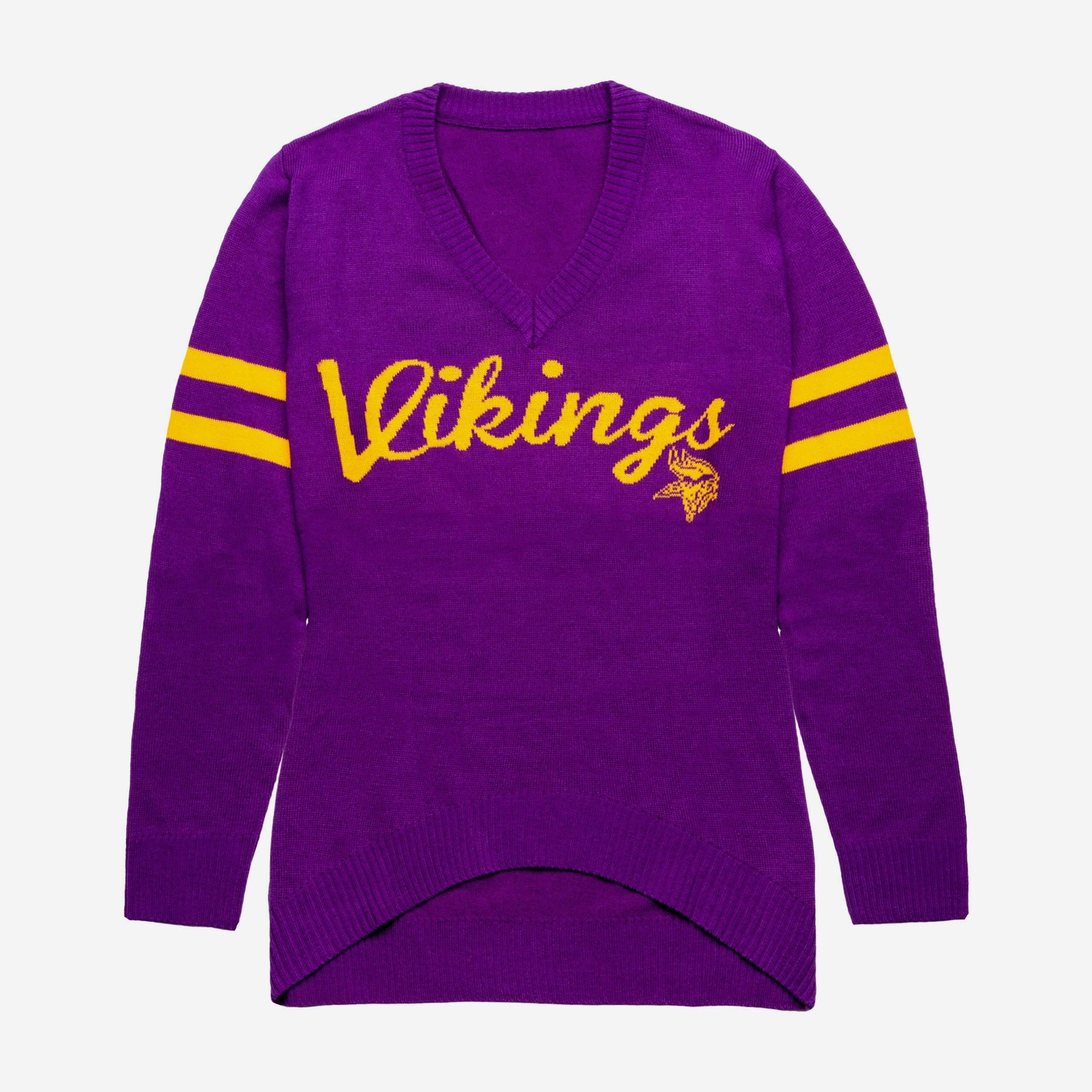 607219288a63f Minnesota Vikings Womens Vintage Stripe Sweater FOCO - FOCO.com