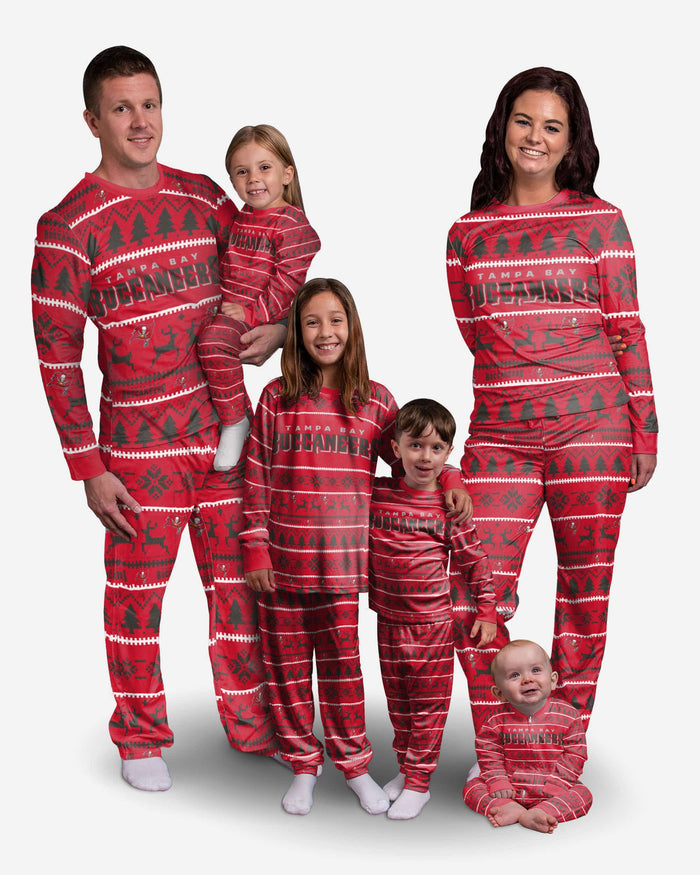 Tampa Bay Buccaneers Womens Family Holiday Pajamas FOCO - FOCO.com