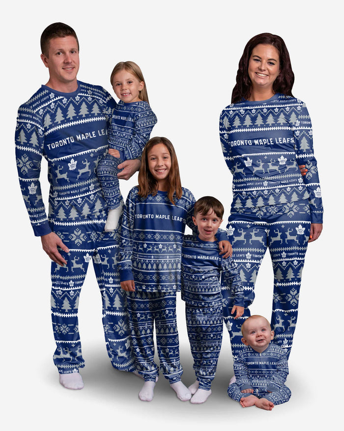Toronto Maple Leafs Toddler Family Holiday Pajamas FOCO - FOCO.com