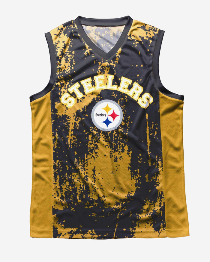 Pittsburgh Steelers Mesh V-Neck Jersey Tank Top FOCO - FOCO.com