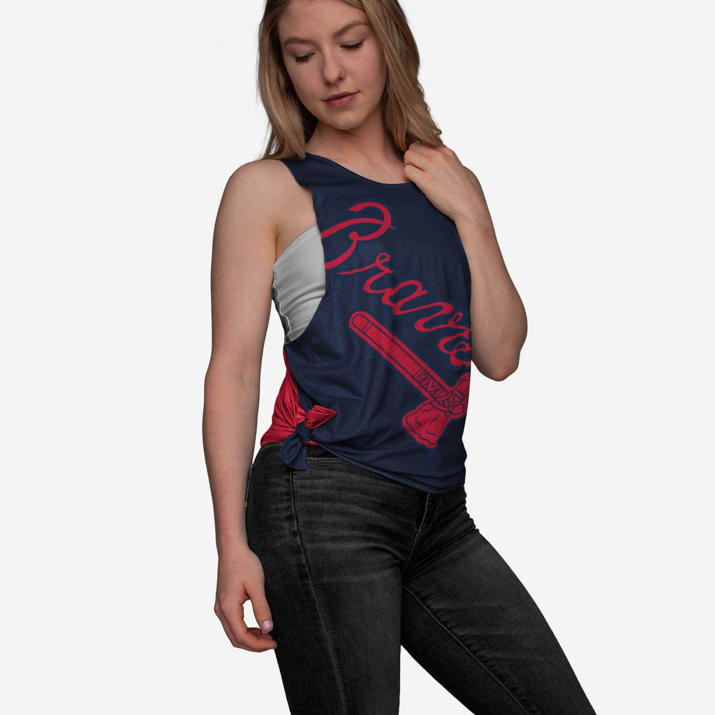 Atlanta Braves Womens Side-Tie Tank FOCO - FOCO.com