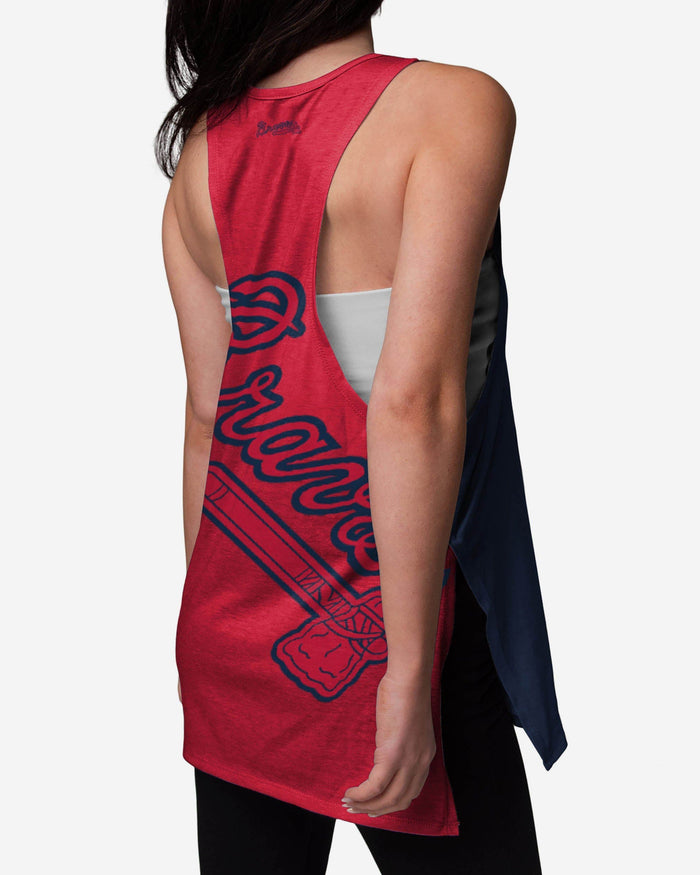 Atlanta Braves Womens Side-Tie Sleeveless Top FOCO - FOCO.com