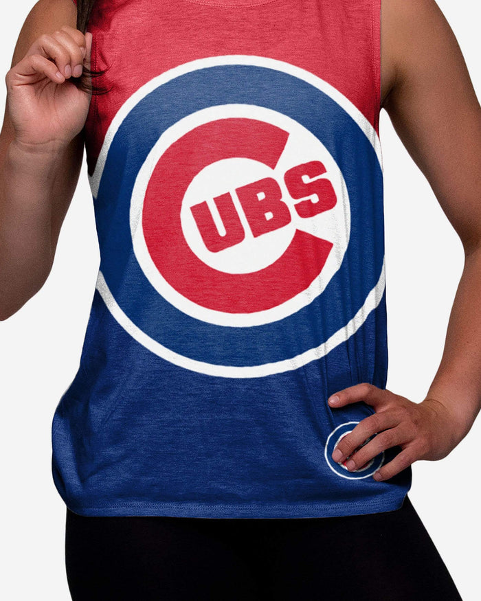 Chicago Cubs Womens Strapped V-Back Sleeveless Top FOCO - FOCO.com