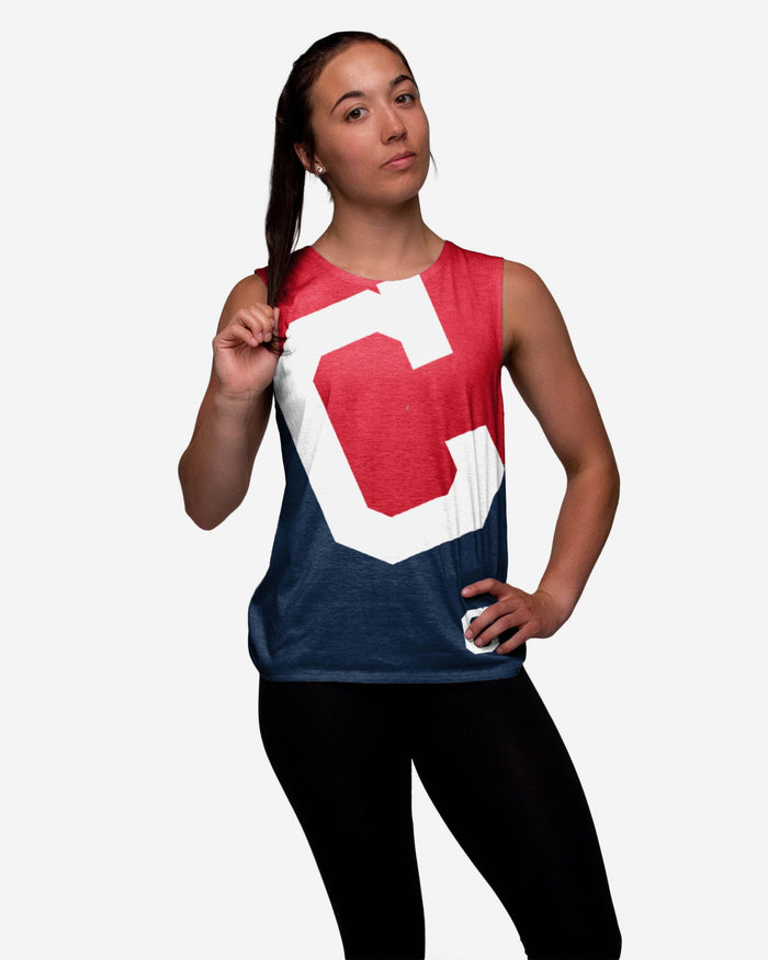 Cleveland Indians Womens Strapped V-Back Sleeveless Top FOCO S - FOCO.com