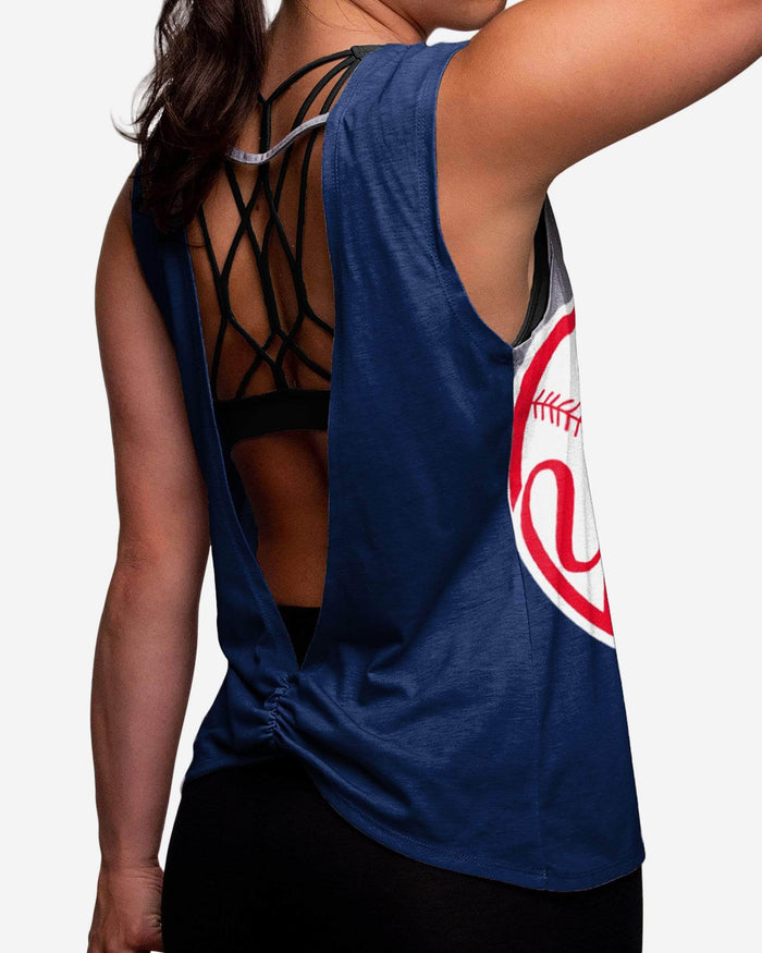 New York Yankees Womens Strapped V-Back Sleeveless Top FOCO - FOCO.com
