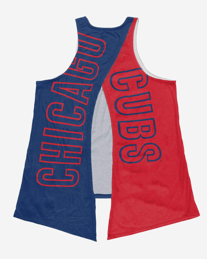 Chicago Cubs Womens Tie-Breaker Sleeveless Top FOCO - FOCO.com