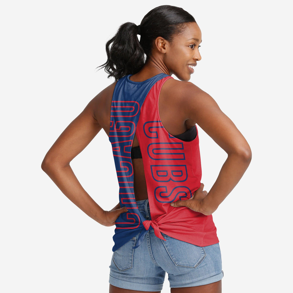 Chicago Cubs Womens Tie-Breaker Tank FOCO - FOCO.com