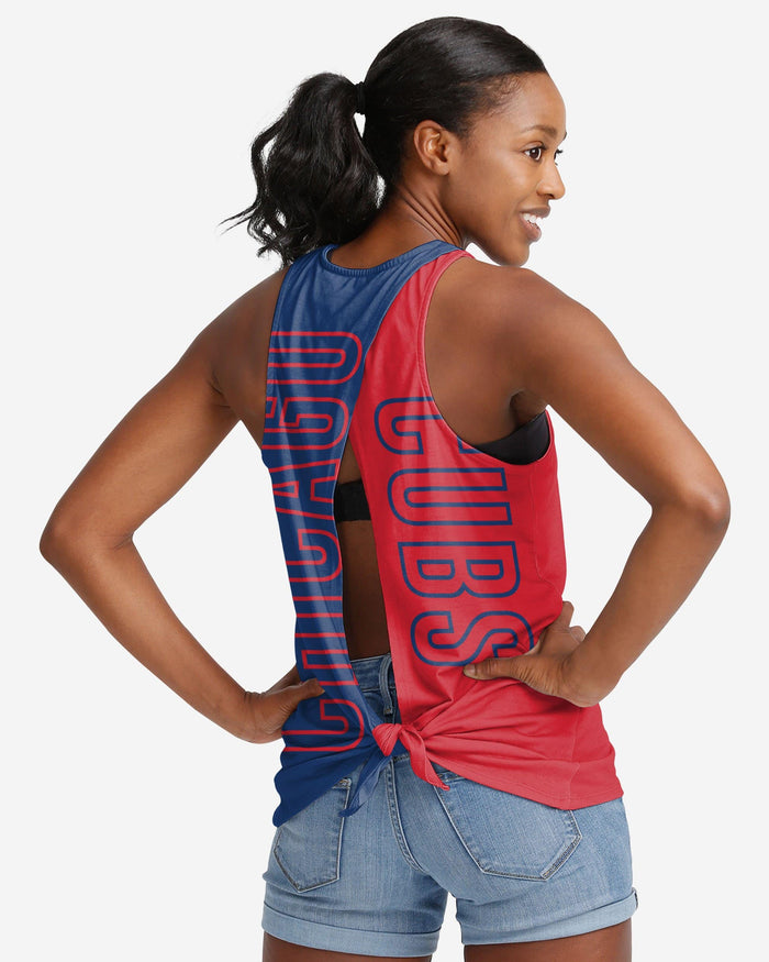 Chicago Cubs Womens Tie-Breaker Sleeveless Top FOCO S - FOCO.com
