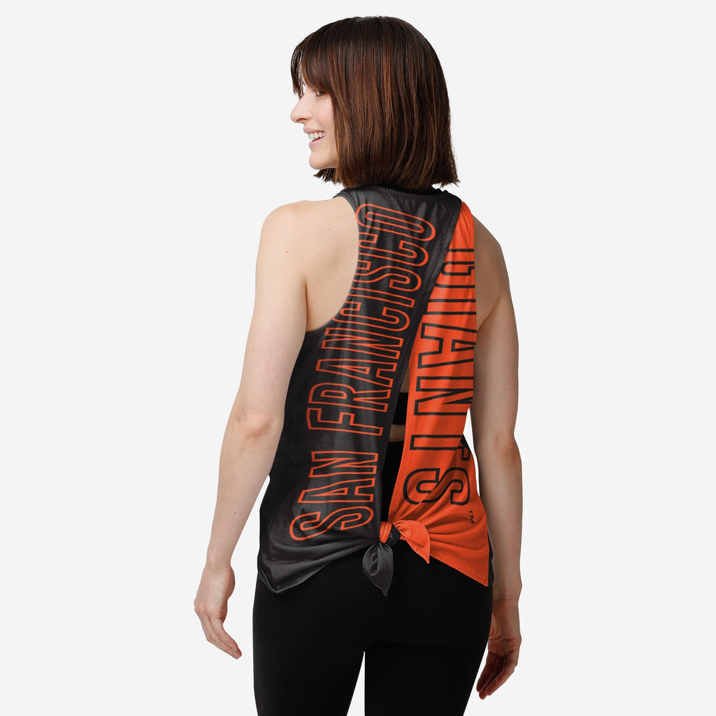 San Francisco Giants Womens Tie-Breaker Sleeveless Top FOCO S - FOCO.com