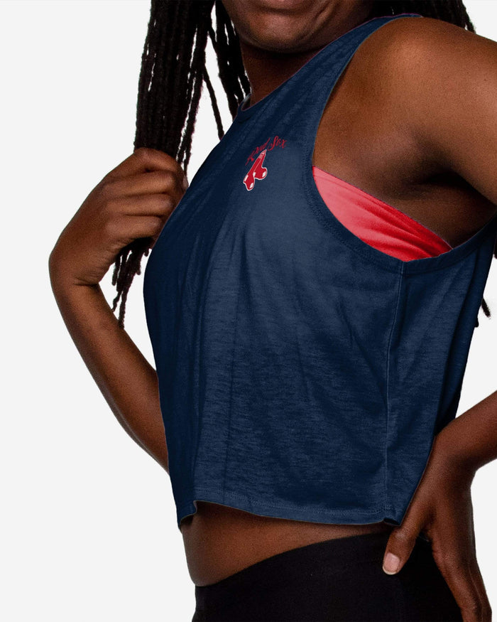 Boston Red Sox Womens Croppin' It Sleeveless Top FOCO - FOCO.com