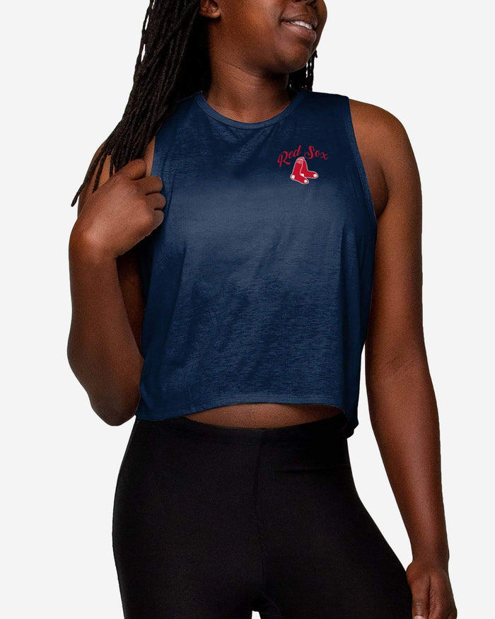 Boston Red Sox Womens Croppin' It Sleeveless Top FOCO S - FOCO.com