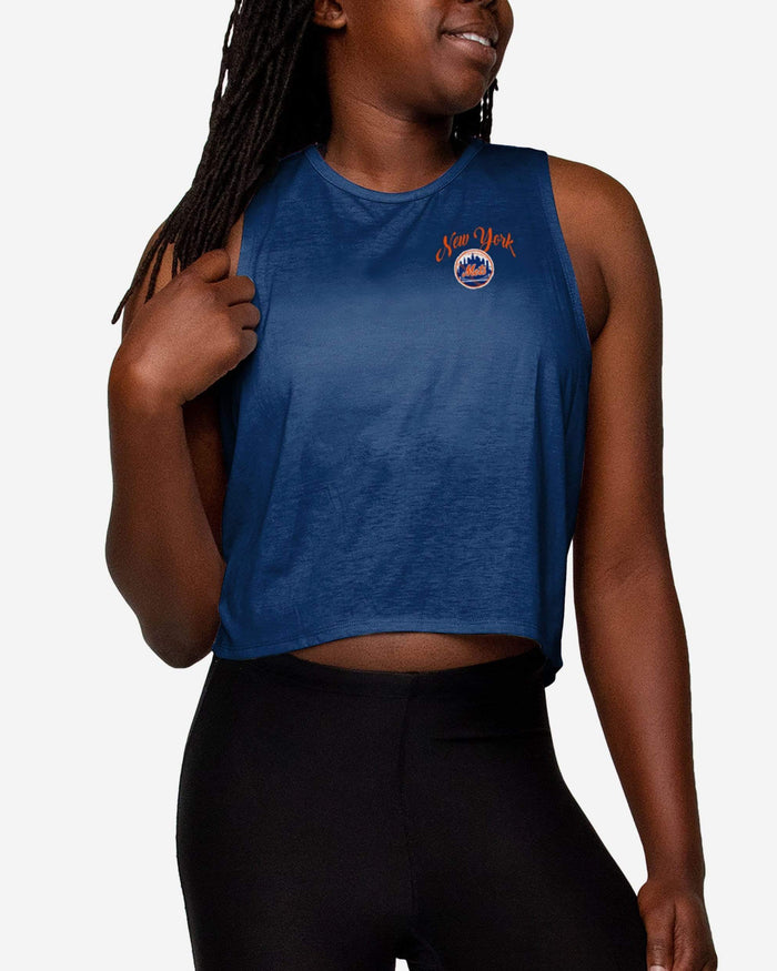 New York Mets Womens Croppin' It Sleeveless Top FOCO S - FOCO.com