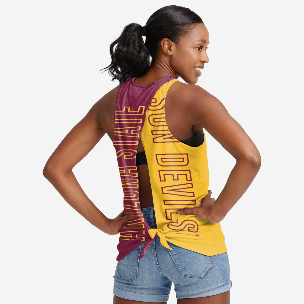 Arizona State Sun Devils Womens Tie-Breaker Sleeveless Top FOCO S - FOCO.com