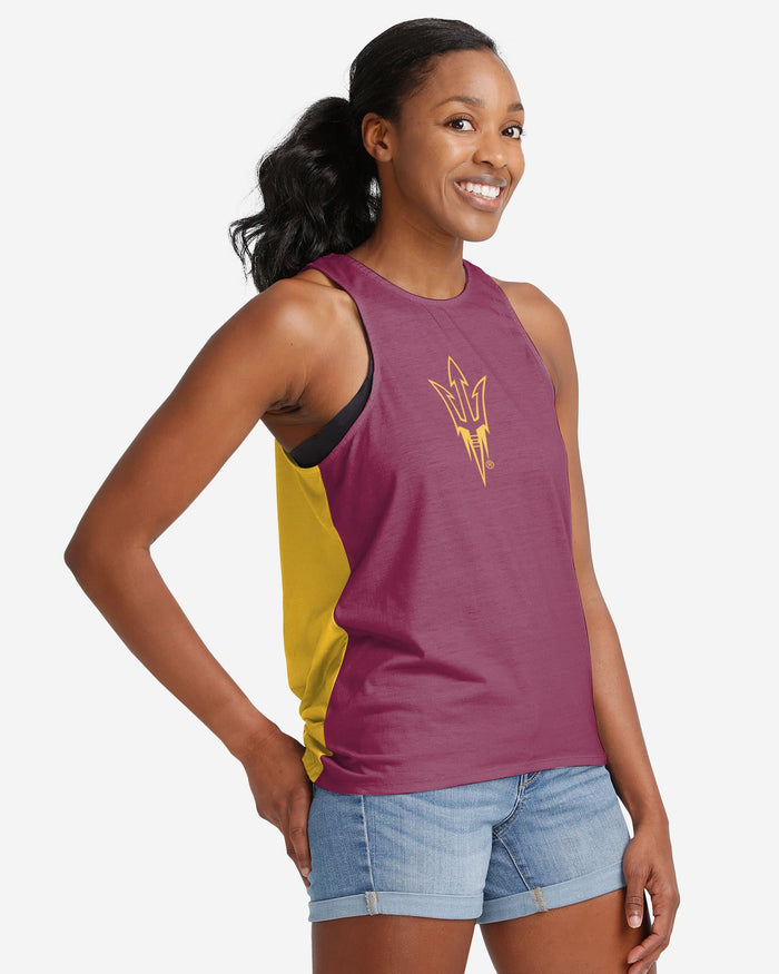 Arizona State Sun Devils Womens Tie-Breaker Sleeveless Top FOCO - FOCO.com