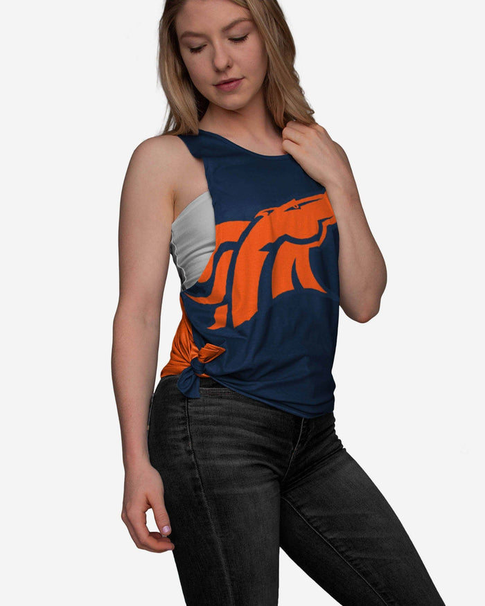 Denver Broncos Womens Side-Tie Sleeveless Top FOCO S - FOCO.com