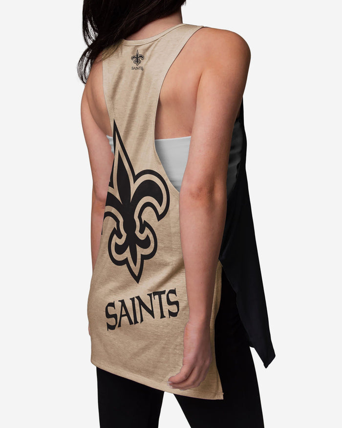 New Orleans Saints Womens Side-Tie Sleeveless Top FOCO - FOCO.com