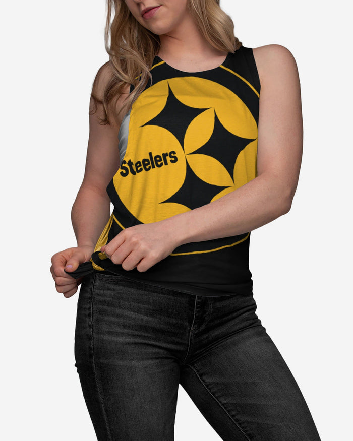Pittsburgh Steelers Womens Side-Tie Sleeveless Top FOCO - FOCO.com