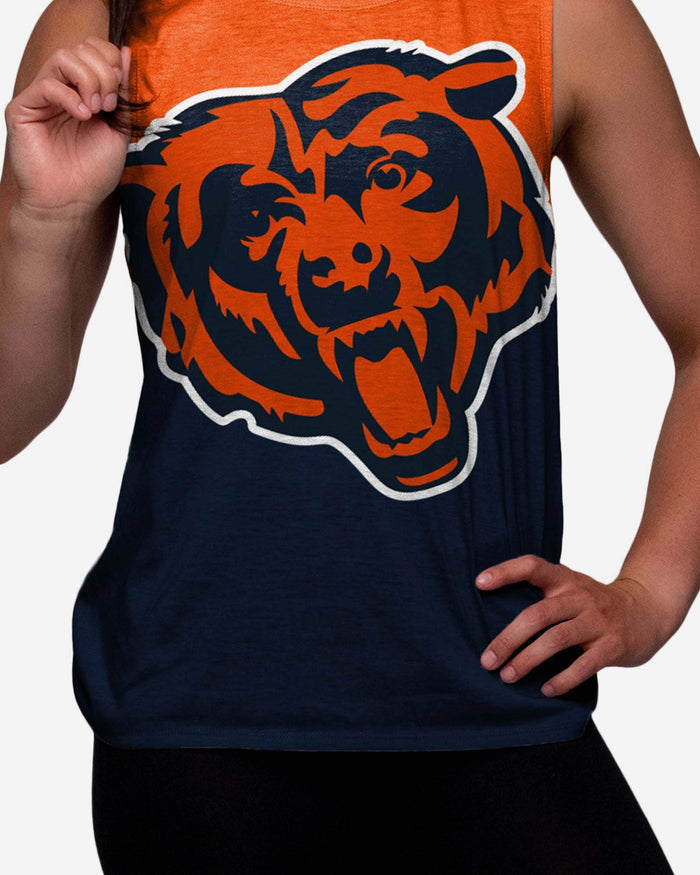 Chicago Bears Womens Strapped V-Back Sleeveless Top FOCO - FOCO.com