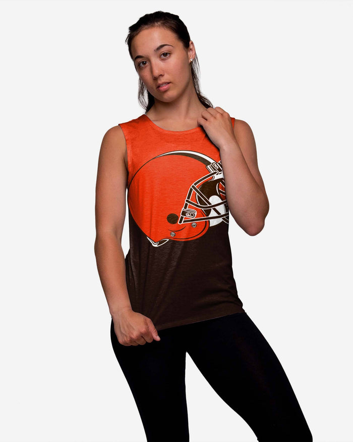 Cleveland Browns Womens Strapped V-Back Sleeveless Top FOCO S - FOCO.com