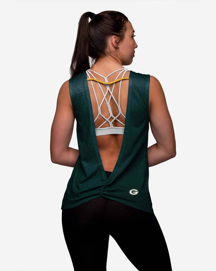 Green Bay Packers Womens Strapped V-Back Sleeveless Top FOCO - FOCO.com