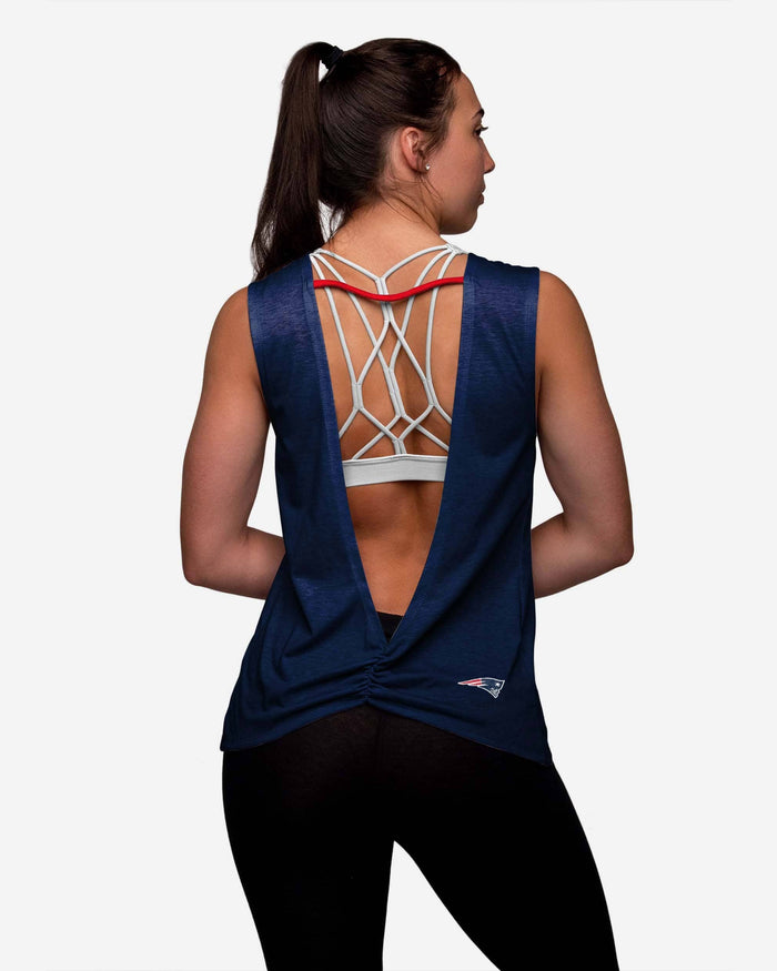 New England Patriots Womens Strapped V-Back Sleeveless Top FOCO - FOCO.com