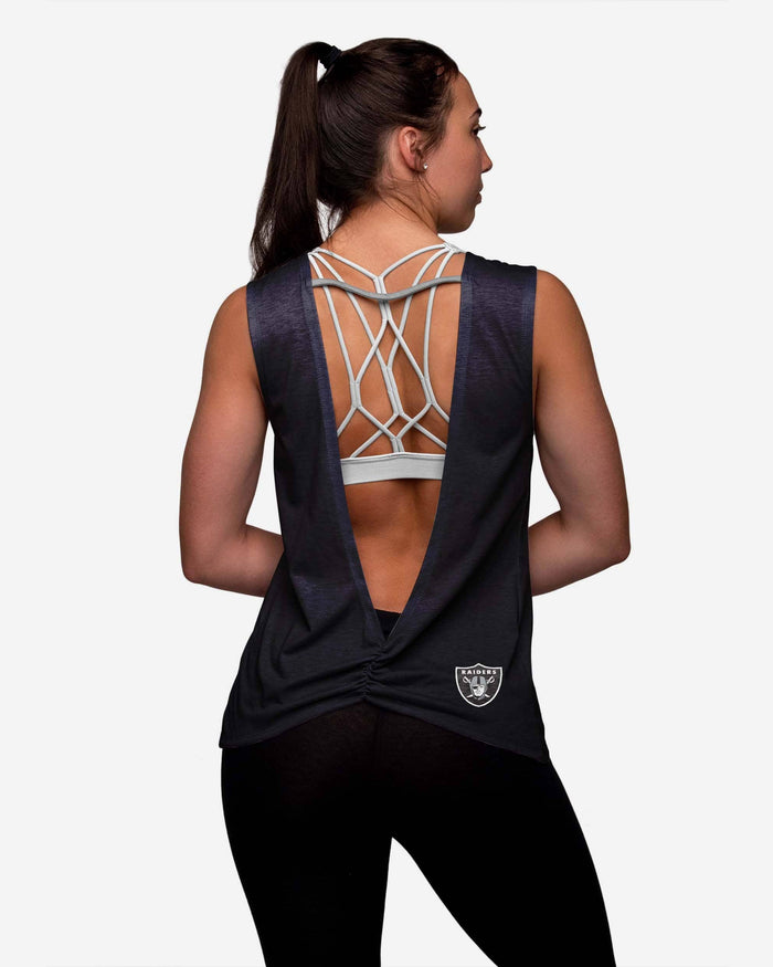 Las Vegas Raiders Womens Strapped V-Back Sleeveless Top FOCO - FOCO.com