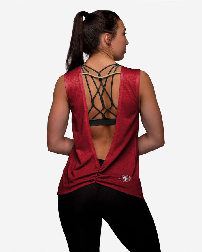San Francisco 49ers Womens Strapped V-Back Sleeveless Top FOCO - FOCO.com