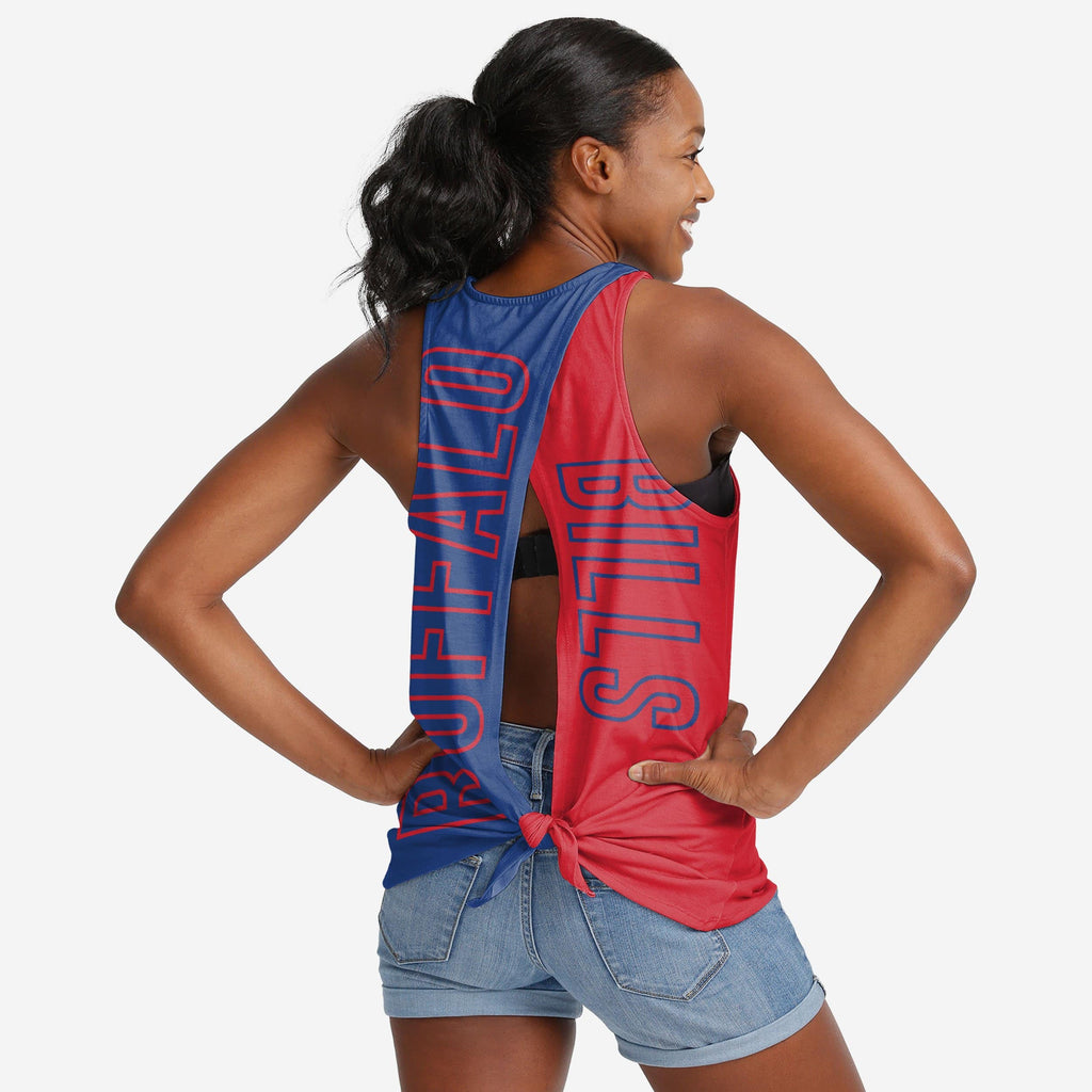Buffalo Bills Womens Tie-Breaker Sleeveless Top FOCO S - FOCO.com