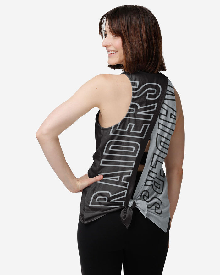 Las Vegas Raiders Womens Tie-Breaker Sleeveless Top FOCO S - FOCO.com