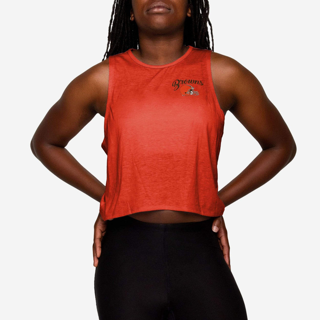Cleveland Browns Womens Croppin' It Tank FOCO S - FOCO.com