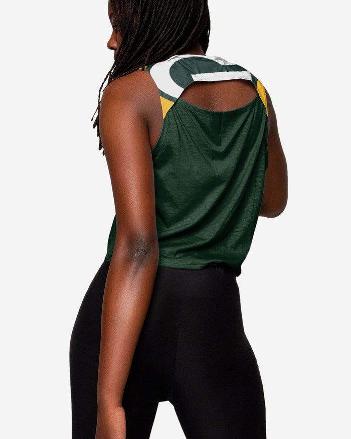 Green Bay Packers Womens Croppin' It Sleeveless Top FOCO - FOCO.com