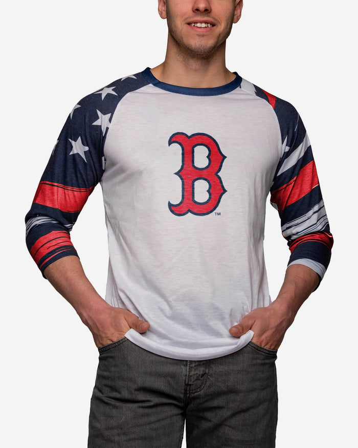 Boston Red Sox Americana Raglan T-Shirt FOCO S - FOCO.com