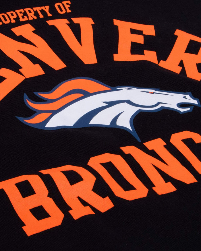 Denver Broncos Womens Cropped Team Crewneck FOCO - FOCO.com