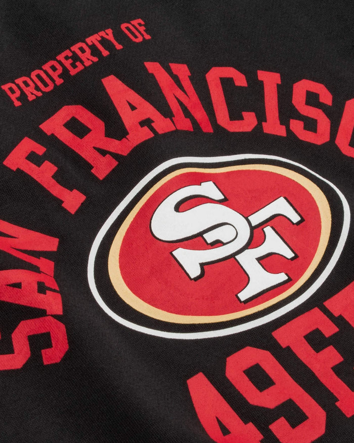 San Francisco 49ers Womens Cropped Team Crewneck FOCO - FOCO.com
