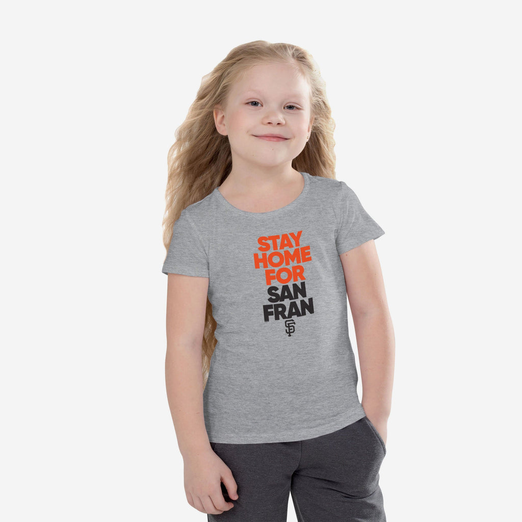 San Francisco Giants Girls Stay Home City T-Shirt FOCO 7/8 (S) - FOCO.com