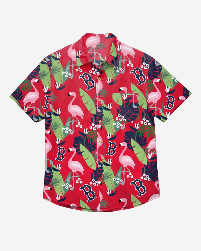 Boston Red Sox Floral Button Up Shirt FOCO - FOCO.com