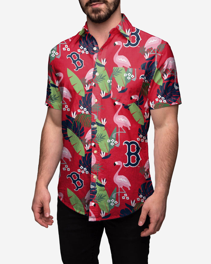 Boston Red Sox Floral Button Up Shirt FOCO 2XL - FOCO.com