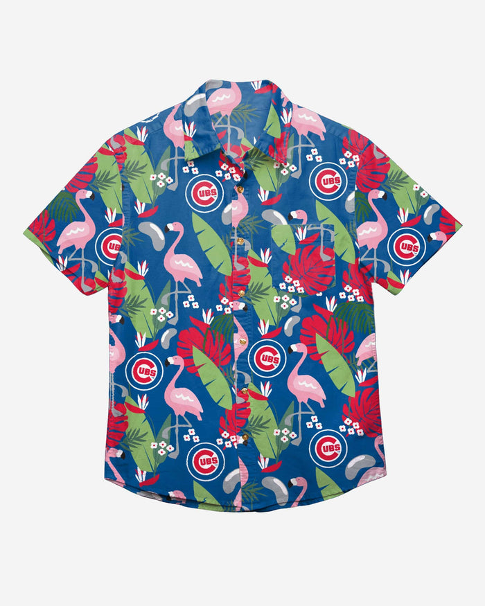 Chicago Cubs Floral Button Up Shirt FOCO - FOCO.com