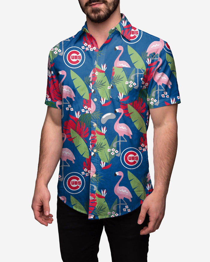 Chicago Cubs Floral Button Up Shirt FOCO 2XL - FOCO.com