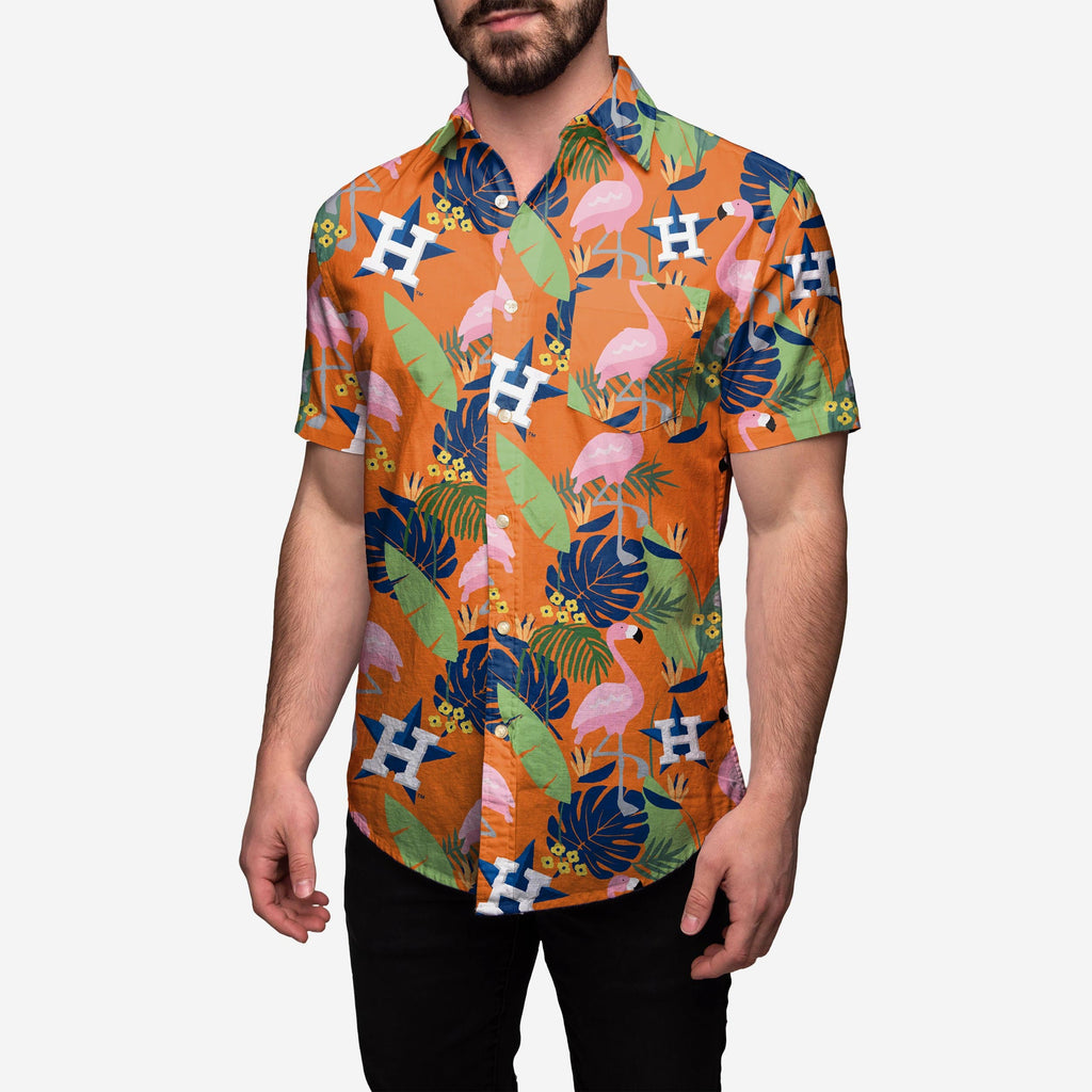 Houston Astros Floral Button Up Shirt FOCO 2XL - FOCO.com