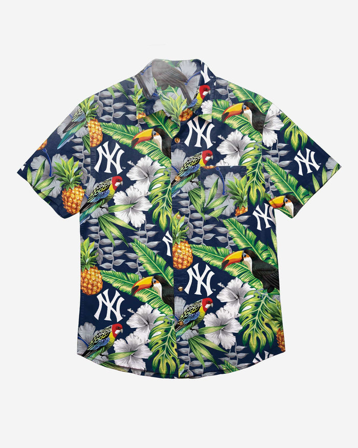 New York Yankees Floral Button Up Shirt FOCO - FOCO.com