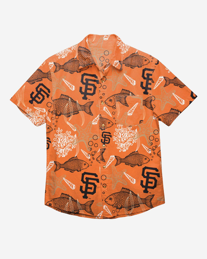 San Francisco Giants Floral Button Up Shirt FOCO - FOCO.com