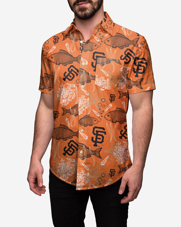 San Francisco Giants Floral Button Up Shirt FOCO 2XL - FOCO.com