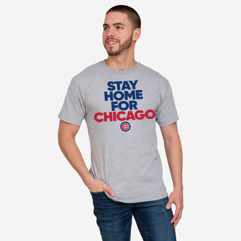 Chicago Cubs Mens Stay Home City T-Shirt FOCO S - FOCO.com