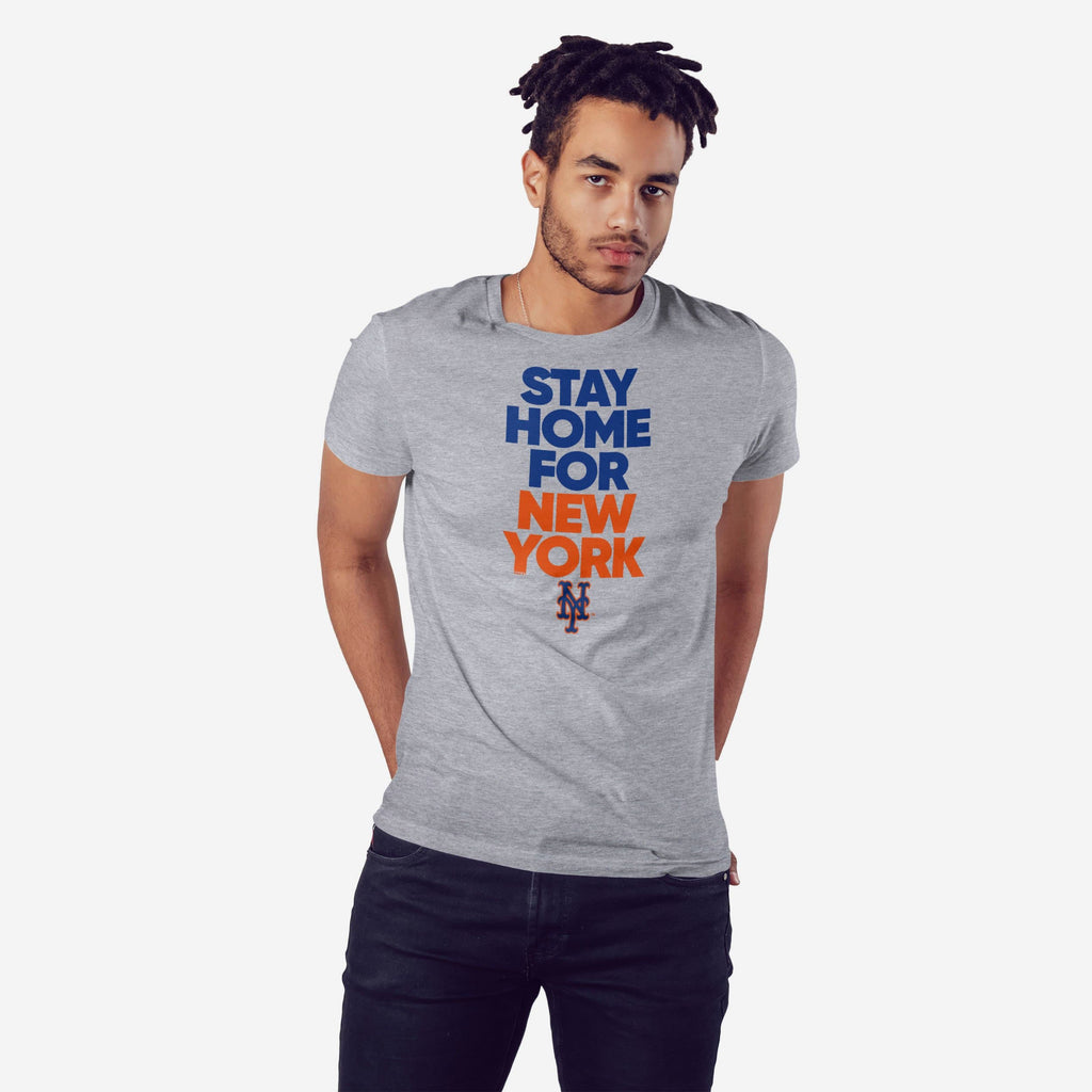 New York Mets Mens Stay Home City T-Shirt FOCO S - FOCO.com