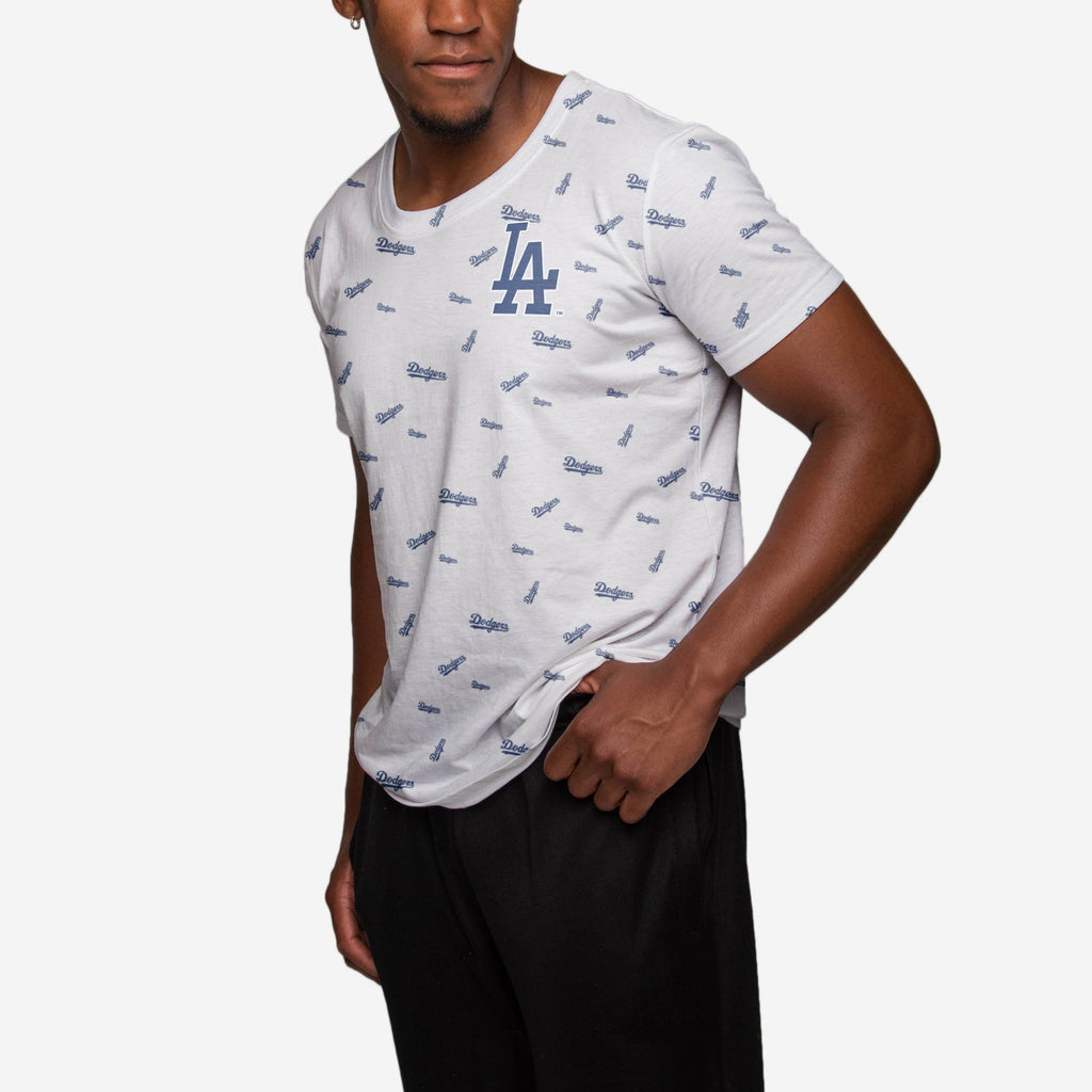 Los Angeles Dodgers Mini Wordmark T-Shirt FOCO - FOCO.com